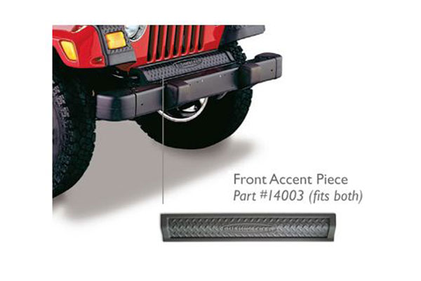 bushwacker trail armor jeep body protection kit  front and rear accent pieces front