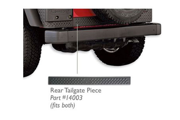 bushwacker trail armor jeep body protection kit  front and rear accent pieces rear