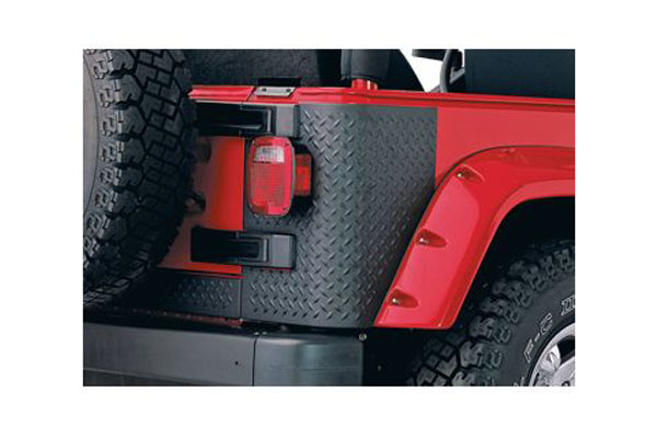 bushwacker trail armor jeep body protection kit front and rear corners rear 14001