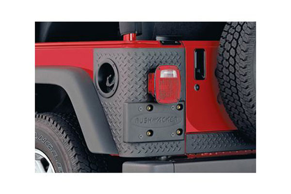 bushwacker trail armor jeep body protection kit front and rear corners rear 14004