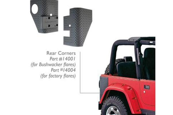 bushwacker trail armor jeep body protection kit rear corners