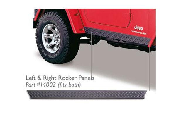 bushwacker trail armor jeep body protection kit rocker panels