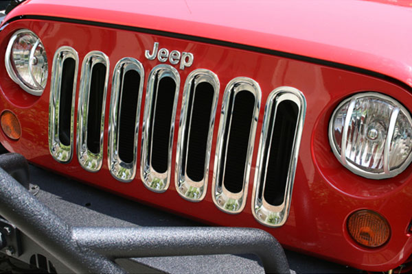 rugged ridge chrome grille insert