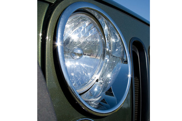 rugged ridge chrome headlight trim