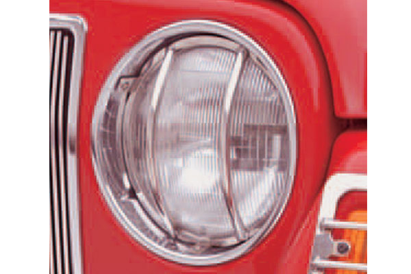 rugged ridge front headlight guards stainless