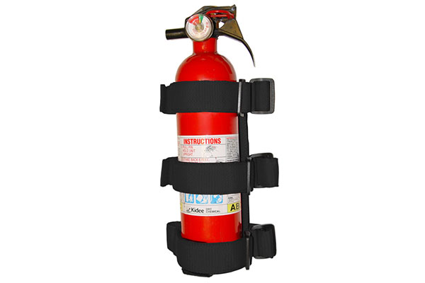 rugged ridge jeep storage kits fire extinguisher holder