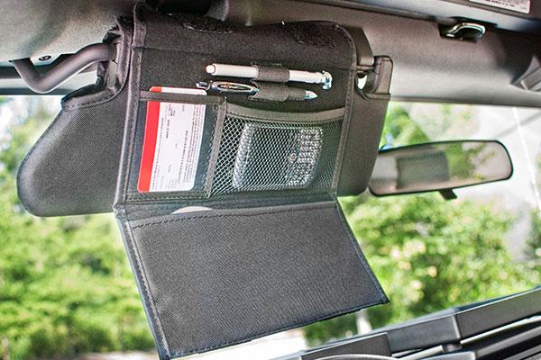 rugged ridge jeep storage kits visor storage