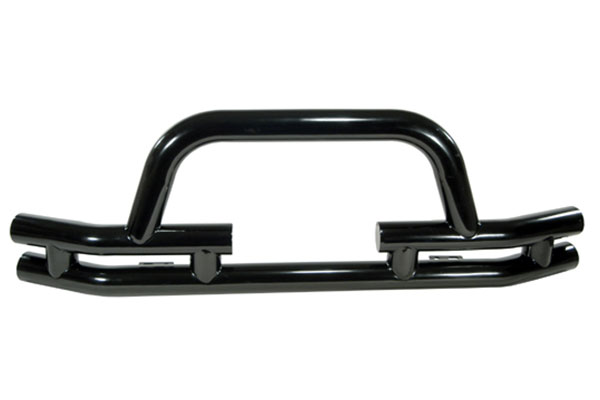 rugged ridge tube bumper front winch cutout black