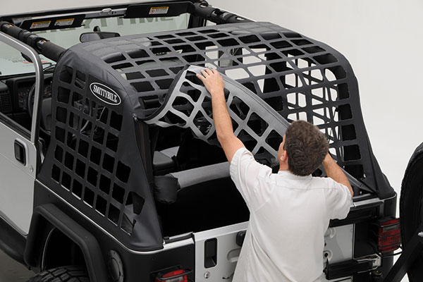 smittybilt cres jeep cargo net opening