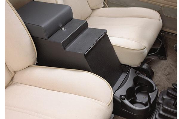 smittybilt jeep security stereo floor console 3