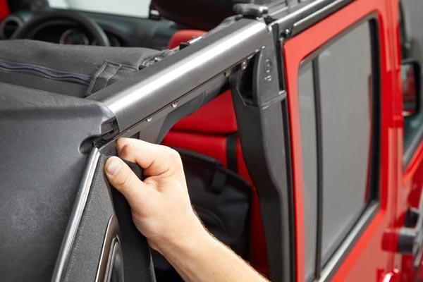 bestop trektop pro soft top rear window panel component