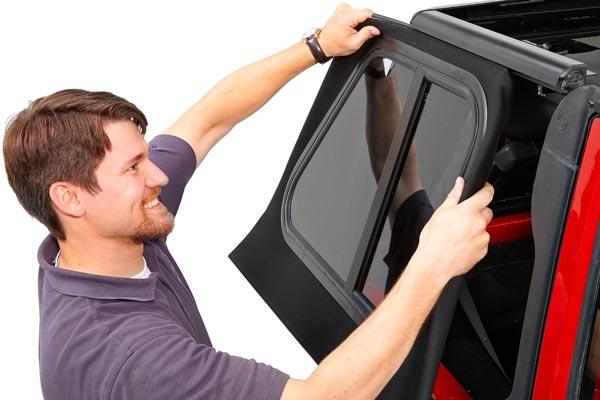 bestop trektop pro soft top side glass panel channel install