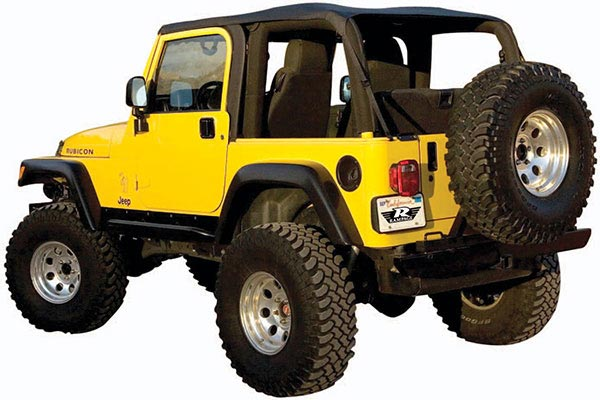 rampage frameless jeep soft top safari style