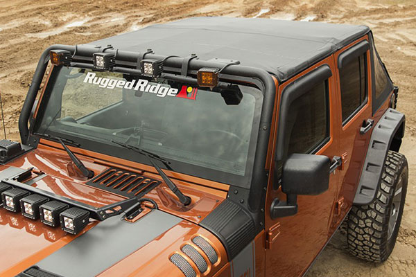 rugged ridge bowless jeep top front