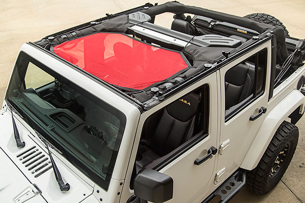 rugged ridge eclipse sun shade installed small