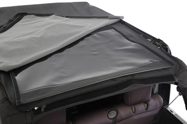 smittybilt bowless combo soft top folding window