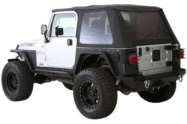 smittybilt bowless combo soft top wrangler 2 door installed