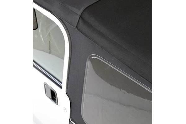 smittybilt premium replacement canvas soft top window detail
