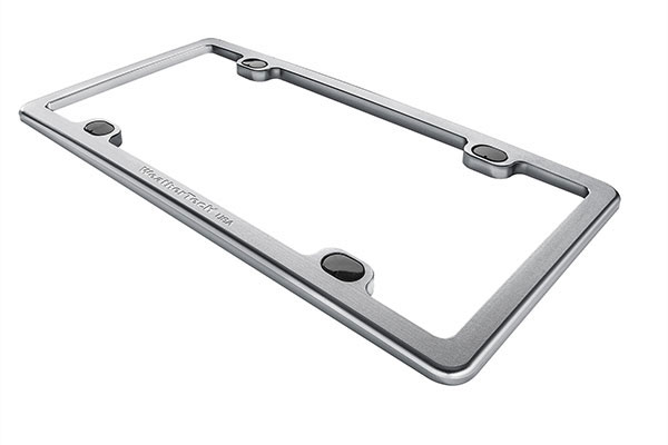 WeatherTech Billet License Plate Frame Clear Bright Silver