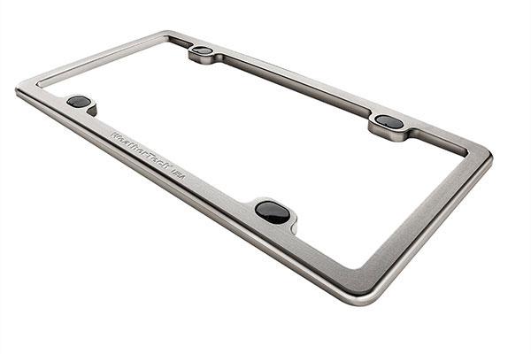 WeatherTech Billet License Plate Frame Titanium