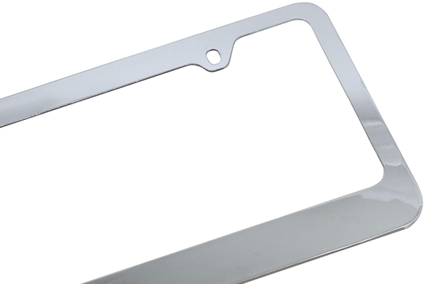 heavy duty license plate frame detail