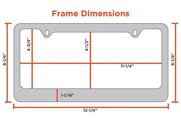 heavy duty license plate frame dimensions