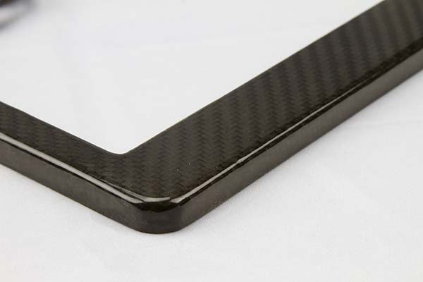proz carbon fiber license plate frame detail1