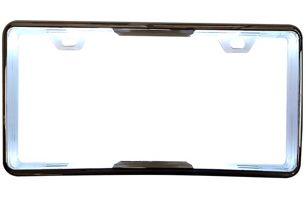 proz led license plate frame illuminated white