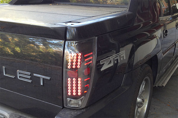 3984 anzo usa led taillights chevy avalanche