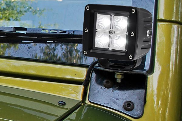 3in led light cube installed jeep