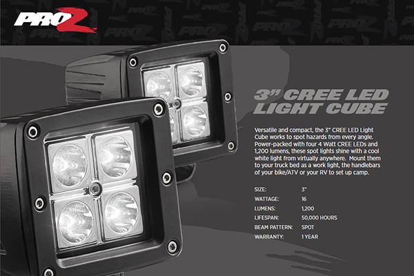 ProZ 3 CREE LED Light Cube