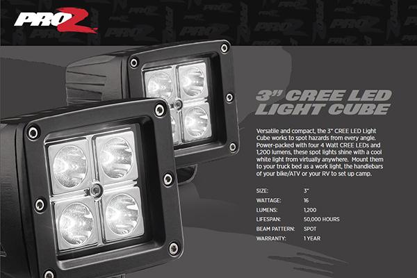 ProZ 3 CREE LED Light Cube