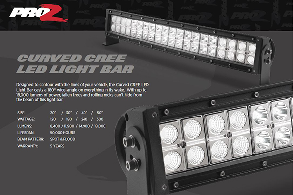 Proz aa curve 240w proz curved cree led light bars free shipping proz curved cree led light bars aloadofball Images