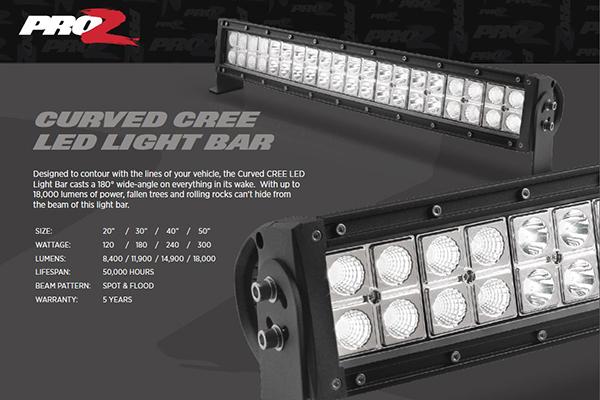 Proz curved cree led light bars free shipping on curved light bars proz curved cree led light bars aloadofball Choice Image