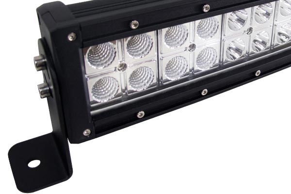 curved cree led light bars detail