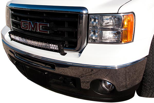 curved cree led light bars installed