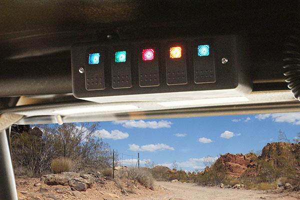 daystar roll bar switch panel installed rool bar