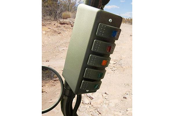 daystar roll bar switch panel installed side bar