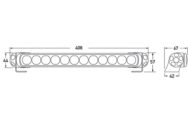 hella led light bar 350 12690 chart