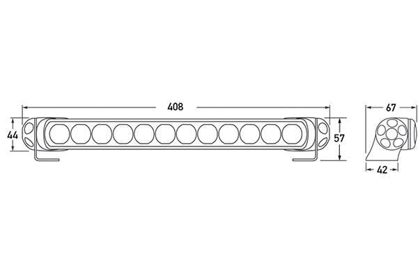 hella led light bar 350 12690 chart
