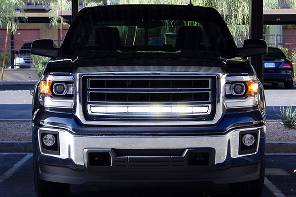 hella led light bar 350 on truck