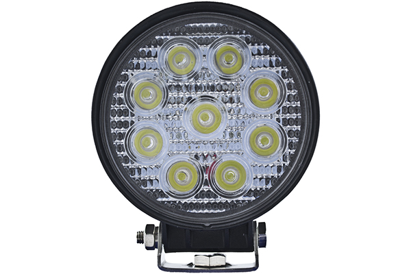 hella optilux round led work lamps front