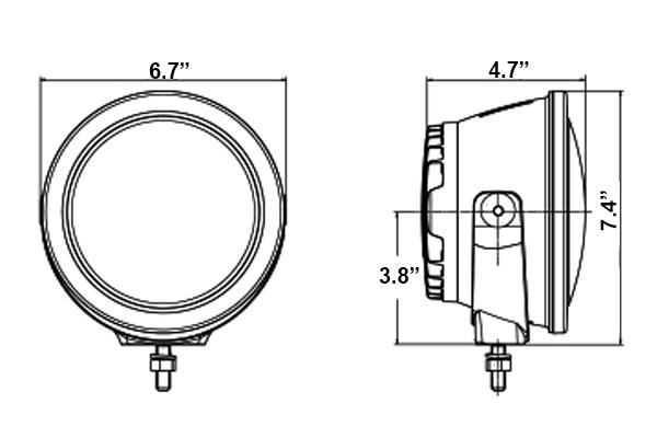 hella rallye 4000 compact led light beam dimensions