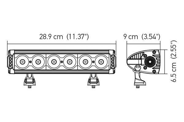 hella value fit design series led light bar 12686 chart