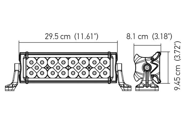 hella value fit pro series led light bar 12687 chart