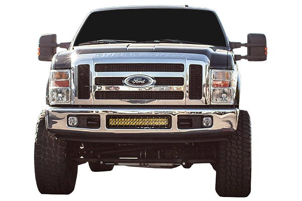 ici bumper light mounting brackets installed superduty