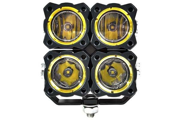 kc hilites flex quad led light system front