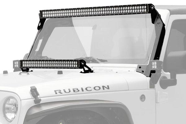 kc hilites c series led light kits jeep hood mounts