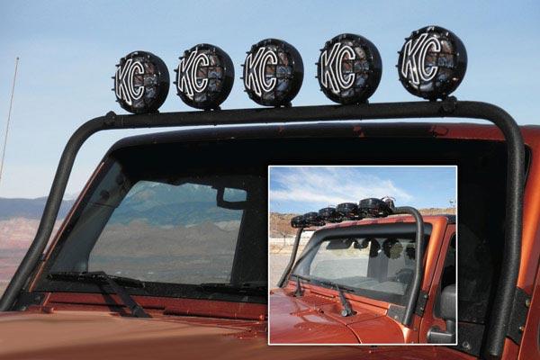 kc hilites overhead light mounting brackets installed