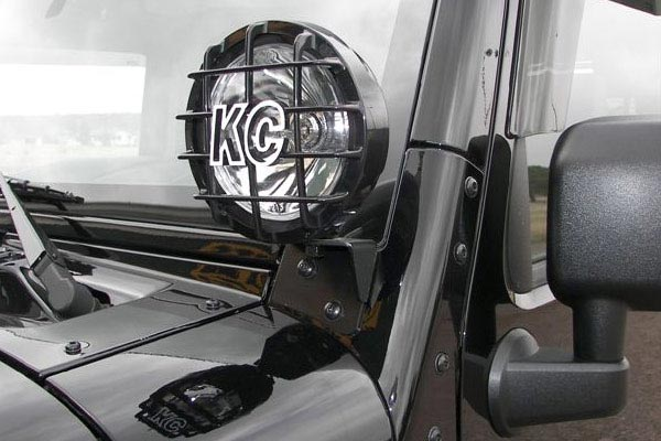 kc hilites windshield light mounting brackets installed